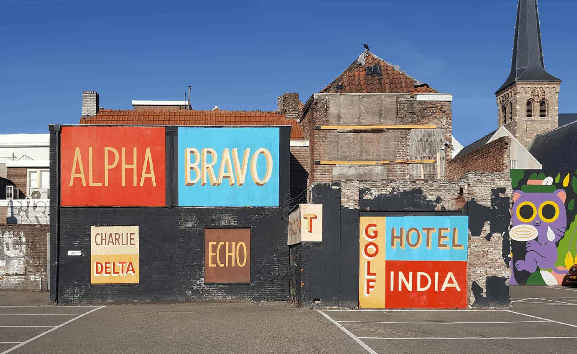 Nato Phonetic Alphabet Wall Painting