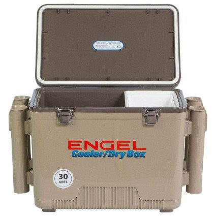 ENGEL Cooler Dry Box With 4 Rod Holders - 30 Qt