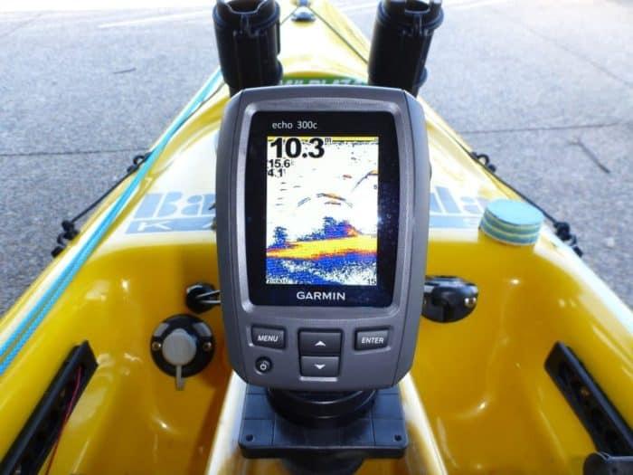 Kayak Fishing with portable fish finder