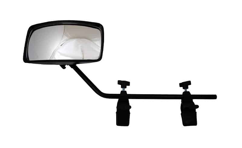 Attwood 13066-7 Universal Adjustable Clamp-On Rear View Boat Mirror