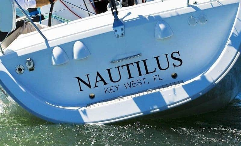 Boat Name On A Transom