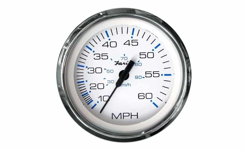 Faria Chesapeake Pitot SS Manual Boat Speedometer