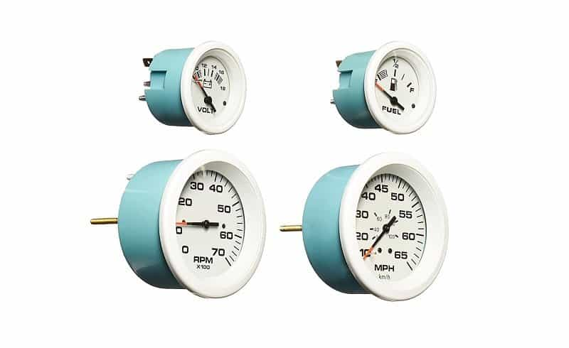 Sierra International Arctic 4-gauge Manual Boat Speedometer Set