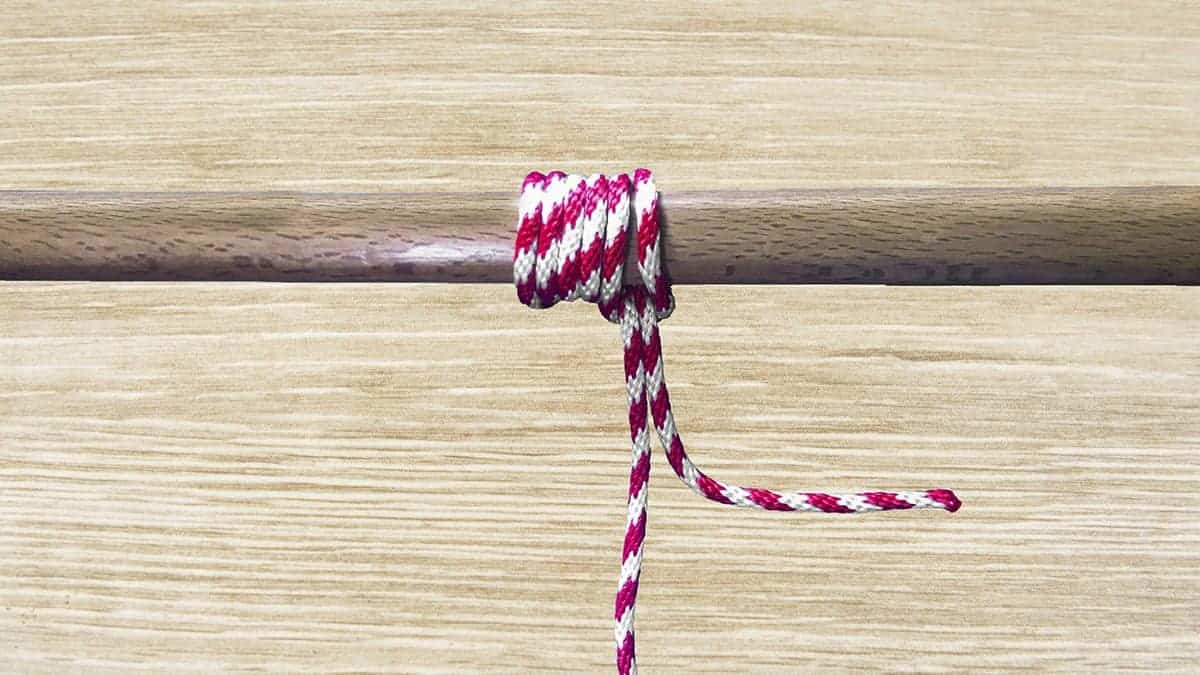 Icicle Hitch Knot Step 10