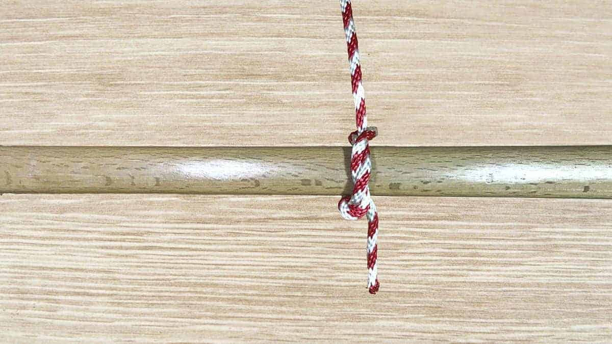 Timber Hitch Knot Step 12