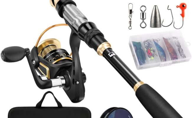 Magreel Telescopic Fishing Rod and Reel Combo Set with Accessories