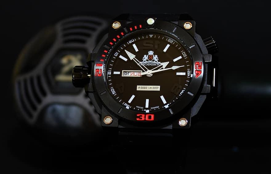 Black Waterproof Scuba Dive Watch