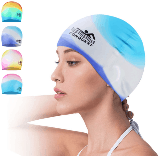 Best Fashion Swim Cap- Wallfire Silicone Swim Cap