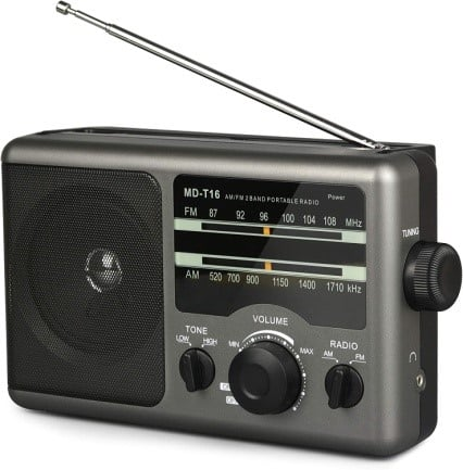 Jazzmm AM FM Portable Radio Battery Operated