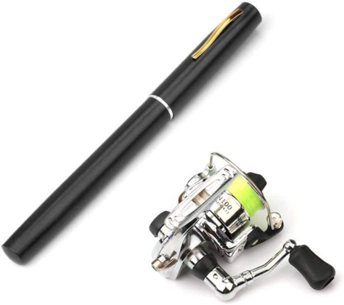 Lixada Pen Telescopic Fishing Rod and Reel Combo