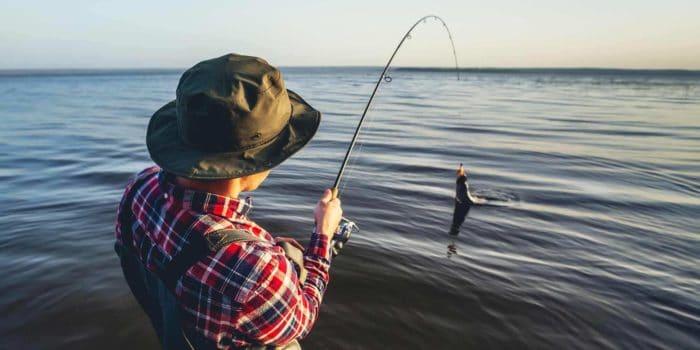 Man in Hat Fishing