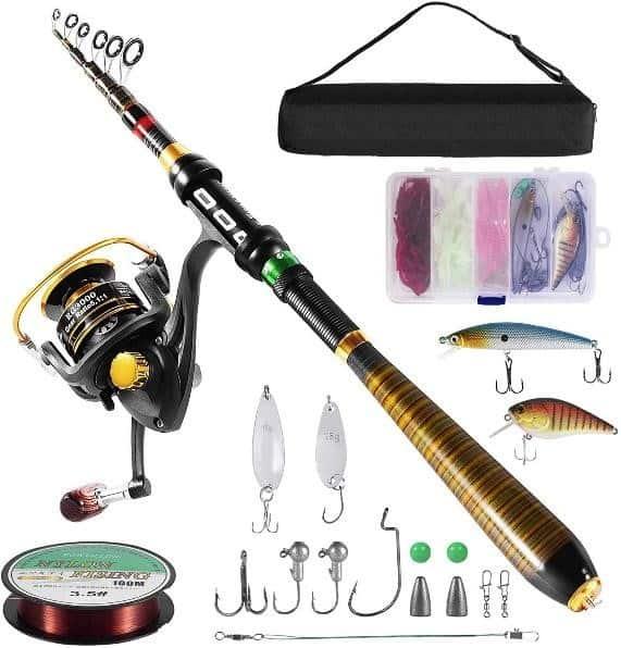 Milerong Telescopic Fishing Rod and Reel Combo