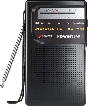 PowerBear Portable Radio with Long-Range Reception