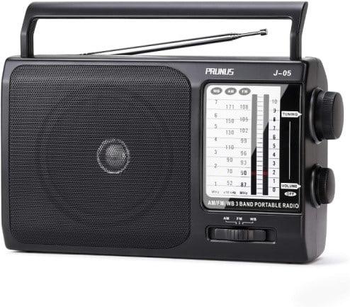 Prunus J-05 Portable AM FM Radio NOAA Weather Transistor Radio