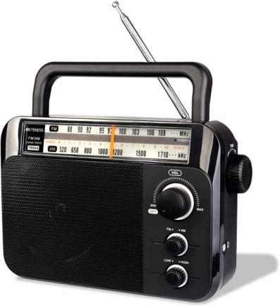Retekess TR604 AM FM Portable Transistor Analog Radio