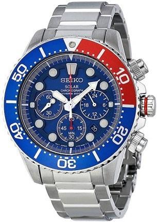 Seiko SSC019 Men's Solar Diver Chronograph Watch