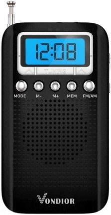Vondior E300 Digital AM FM Portable Pocket Radio with Alarm Clock